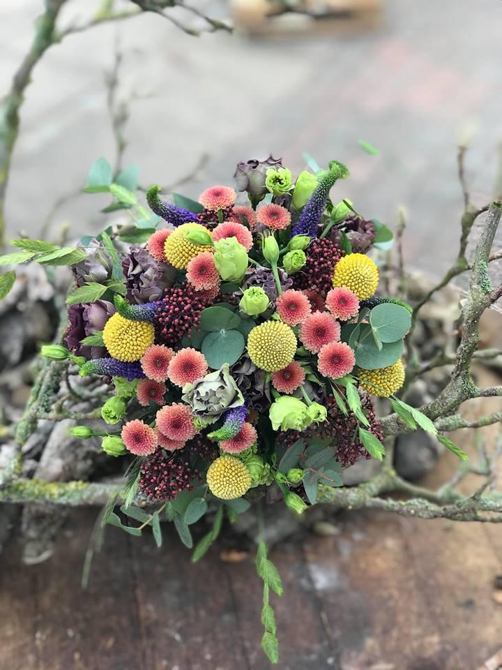 Den farverige brudebuket (top)